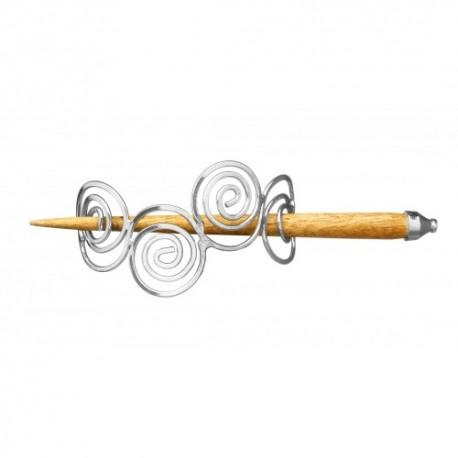 acquisto economico 620a0 e57f9 Fermacapelli con Spirali II Placcato in Argento - ArgentoCeltico.it -  vendita online di gioielli e monili celtici e vichinghi
