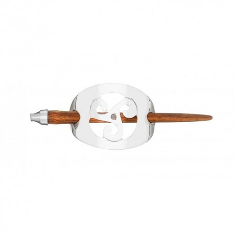 Fermacapelli con Triskell II Placcato in Argento