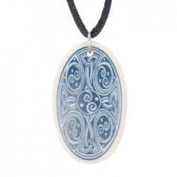 Ciondolo Celtico Ovale in Ceramica