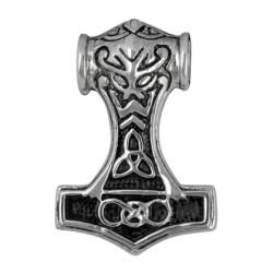 Ciondolo Martello di Thor Mjolnir in bronzo placcato argento