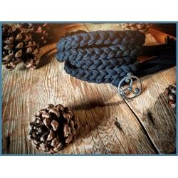 Cintura intrecciata a mano con Triskell in Acciaio