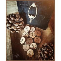 Rune in Legno fatte a mano con Sacchettino fatto a mano