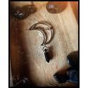 Fermacapelli con Luna Placcato in Argento e con Pietra Onice