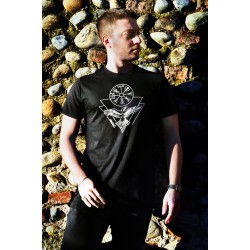 T-Shirt con Vegvisir e Corvo