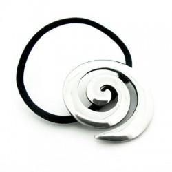 Elastico Ferma Capelli con Gioiello in Peltro a Spirale