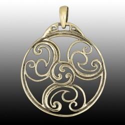 Ciondolo Celtico con Triskell in bronzo