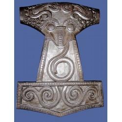 Martello di Thor da Muro Intagliato in Legno