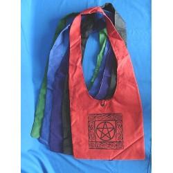 Borsa a tracolla in Cotone con Pentagramma colore Nera