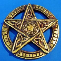 Pentagramma Piccolo da Parete Intagliato in Legno