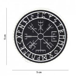 Toppa Vegvisir Rune in Silicone con Velcro III