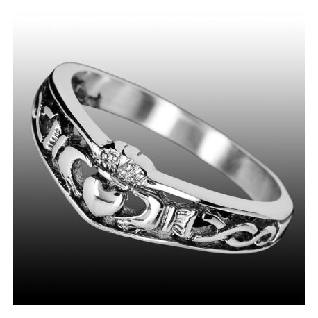 Anello Claddagh - Fede Irlandese in Acciaio tg.. 54/14