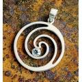 Ciondolo Spirale con Topazio