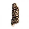 Anello da Barba o Perla per Capelli in Bronzo con Rune