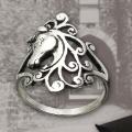 Sterling silver Einhorn ring
