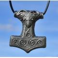 Thor 's Hammer Pendant - Mjolnir - pewter
